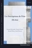 François Bertrandy et François Kaiser - Les inscriptions de l'Ain.