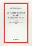 François Bluche et Jean-François Solnon - La véritable hiérarchie sociale de l'ancienne France - Le tarif de la première capitation (1695).