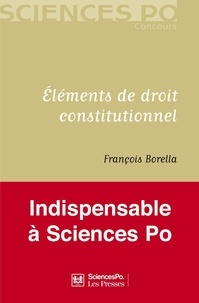 François Borella - Eléments de droit constitutionnel.