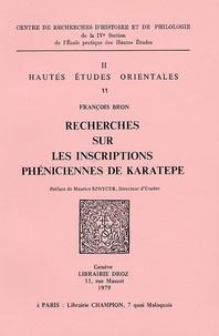 François Bron - Recherches sur les inscriptions phéniciennes de Karatepe.