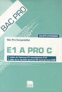 Bac pro Comptabilité E1 A Pro C Sujets d'examen- 7 sujets de l'épreuve E1 sous-épreuve E1A, 1 sujet de la nouvelle épreuve E2 sous-épreuve E2B - François Cartier | Showmesound.org