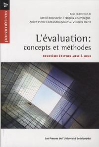 François Champagne et André-Pierre Contandriopoulos - L'évaluation : concepts et méthodes.