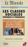 François Châtaigner - Les classes sociales - Pertinence et permanence.