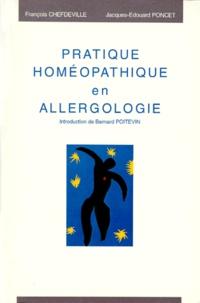François Chefdeville et Bernard Poitevin - Pratique homéopathique en allergologie.