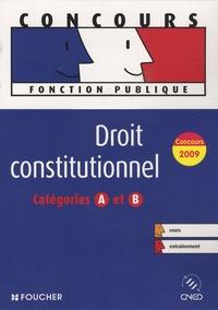 François Chevalier - Droit constitutionnel - Catégories A et B.
