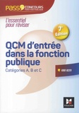 François Chevalier et Thierry Marquetty - QCM d'entrée dans la fonction publique - Catégorie A, B et C.