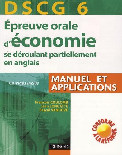 François Coulomb et Jean Longatte - Epreuve orale d'économie se déroulant partiellement en anglais - DSCG 6.