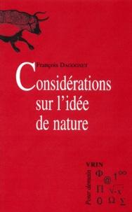 François Dagognet - Considérations sur l'idée de nature.