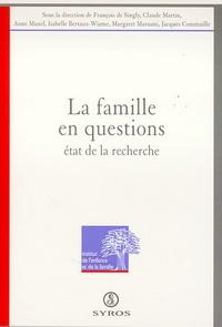 François de Singly - La famille en questions - Etat de la recherche, [colloque international, UNESCO, 19-21 janvier 1994.