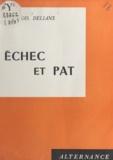 François Delians - Échec et pat.