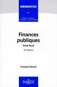 François Deruel - Finances publiques, Droit fiscal.