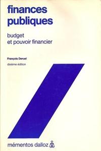François Deruel - Finances publiques - Budget et pouvoir financier.