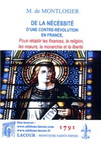 Openwetlab.it De la nécessité d'une contre-révolution en France - Pour rétablir les finances, la religion, les moeurs, la monarchie et la liberté Image