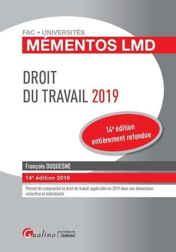 Droit du travail  Edition 2019