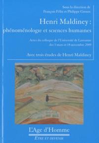 François Félix et Philippe Grosos - Henri Maldiney - Phénoménologie et sciences humaines.