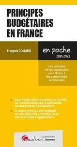 François Goliard - Principes budgétaires en France.