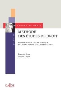 Histoiresdenlire.be Méthode des études de droit - Conseils pour le cas pratique, le commentaire et la dissertation Image