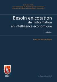 Besoin en cotation de l'information en intelligence économique - François Jeanne-Beylot | Showmesound.org
