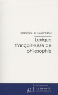 Galabria.be Lexique français-russe de philosophie - Pas de genre spécifique Image