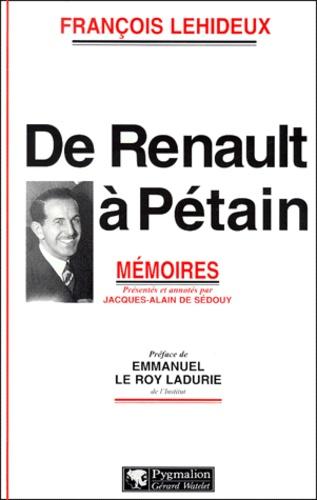 François Lehideux - .