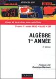 François Liret et Dominique Martinais - Algèbre Licence 1ère année MIAS/MASS/SM.