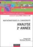 François Liret - Analyse 2e année - Cours et exercices avec solutions.