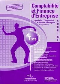 François Marty - Comptabilité et finance d'entreprise - Spécialité Comptabilité et finance d'entreprise; Corrigé.
