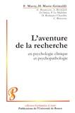 François Marty et Hélène Marie-Grimaldi - L'aventure de la recherche en psychologie clinique et psychopathologie.