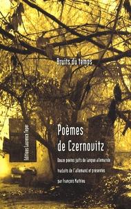 François Mathieu - Poèmes de Czernovitz - Douze poètes juifs de langue allemande.