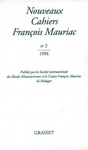 Nouveaux Cahiers Françis Mauriac n°02
