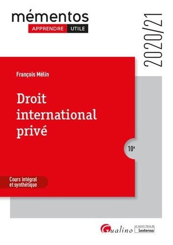 Droit international privé  Edition 2020-2021
