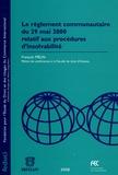 François Mélin - Le règlement communautaire du 29 mai 2000 relatif aux procédures d'insolvabilité.