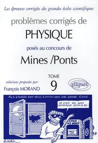 Problèmes corrigés de Pysique posés au concours de Mines/Ponts - Tome 9.pdf