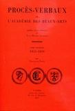 François Naud - Procès-verbaux de l'Académie des Beaux-Arts - Tome 10, 1855-1859.