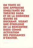 François Noury - Duchamp, le regardeur et la scène de l'art : un théâtre dada - Suivi de Manifeste(s) pour un théâtre rastaquouère.