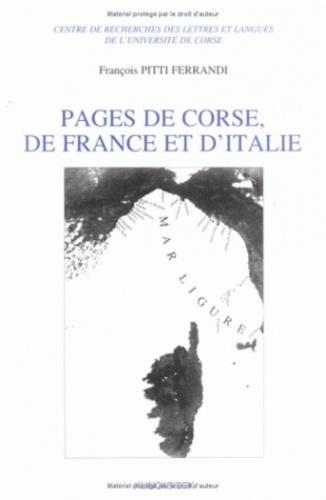François Pitti-Ferrandi - Pages de Corse, de France et d'Italie.