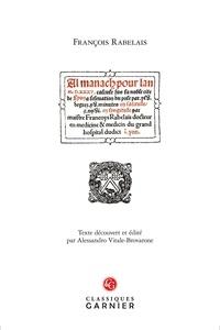 François Rabelais - Almanach pour l'an M.D.XXXV.