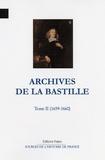 François Ravaisson et Paul Delat - Archives de la Bastille - Tome 2 (1659-1660).