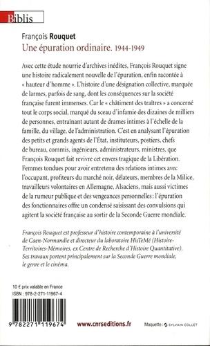 Une épuration ordinaire (1944-1949). Petits et grands collaborateurs de l'administration française