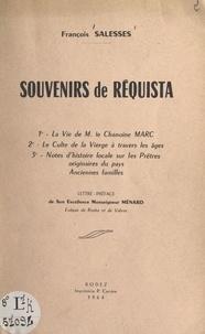 François Salesses et Jean Ménard - Souvenirs de Réquista.