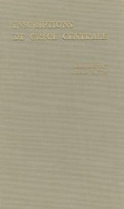 François Salviat et Claude Vatin - Inscriptions de Grèce centrale.