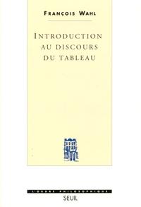 François Wahl - Introduction au discours du tableau.