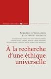 François-Xavier de Guibert - A la recherche d'une éthique universelle.