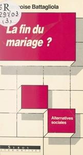 Françoise Battagliola et Jean-Marie Gourvil - La fin du mariage ? - Jeunes couples des années 80.