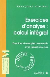 Ucareoutplacement.be EXERCICES D'ANALYSE : CALCUL INTEGRAL. Exercices et exemples commentés avec rappels de cours Image