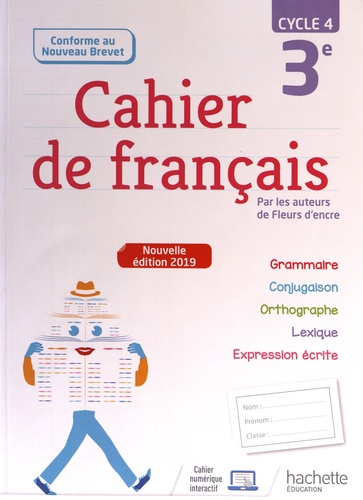 Cahier De Francais 3e Cycle 4 Grand Format