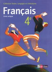 Françoise Colmez - Français 4e - Manuel de l'élève.