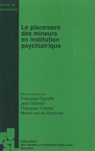 Le placement des mineurs en institution psychiatrique