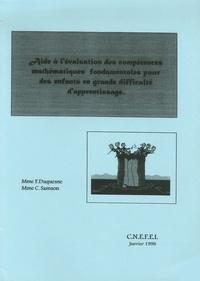 Françoise Duquesne - Aide à l'évaluation des compétences mathématiques fondamentales pour des enfants en grande difficulté d'apprentissage.