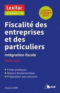 Françoise Ferré - Fiscalité des entreprises et des particulier - Intégration fiscale.